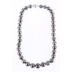 Scarce Black Tahitian Pearl 14K Necklace