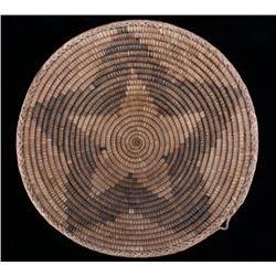 Papago Hand Woven Coil Braided Edge Basket
