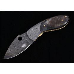 Montana Territory Knives Damascus Pocket Knife