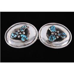 Navajo Alberto Contreras Silver Turquoise Buckle