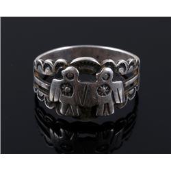 Navajo Sterling Silver Thunderbird Ring