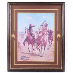 """""""The Duel"""" Charles Schreyvogel Framed Lithograph"""
