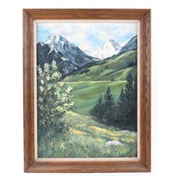 Original Carol Newbury Mountain Landscape Painting