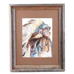 """Oney Budge """"Chief"""" Framed Limited Edition Print"""