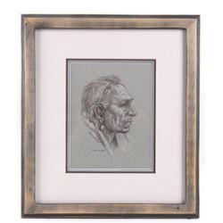 """Two Guns"" Framed Sketch By S S Huntsman"