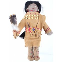 Late 1900's Crow Indian Beaded Doll