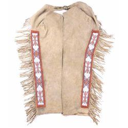 Crow Warrior Beaded Hide Leggings c. 1950's