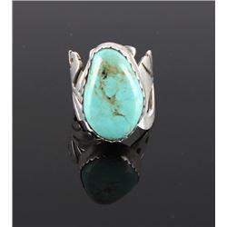 Signed Robert Vandover Navajo Turquoise Ring