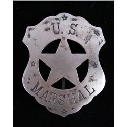 Contemporary Sterling Silver US Marshals Badge