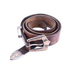 1950's R & M Gold & Sterling Ranger Buckle W/ Belt