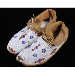 Sioux Fully Beaded Moccasins c. 1950-1960's