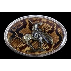 Diamondback Rattlesnake End of the Trail Buckle