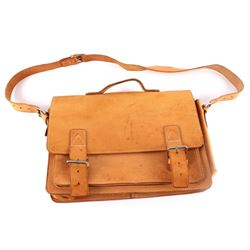 Leather Shoulder Bag w/ Carrying Handle