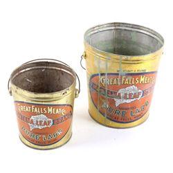 Great Falls Meat Co. Leaf Brand Steel Buckets