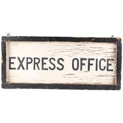 Express Office Framed Wood Sign