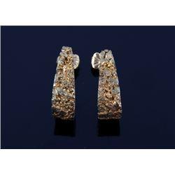 Alaskan 14K Gold Nugget Earrings