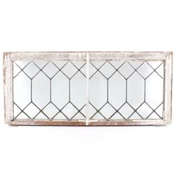 Art Deco Diamond Pattern Lead Glass Windows