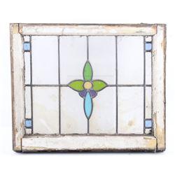 Victorian Multi-Colored Lead Stain Glass Window