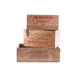 Collection of Remington & Winchester Ammo Crates
