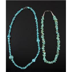 Navajo Sterling & Turquoise Nugget Necklace
