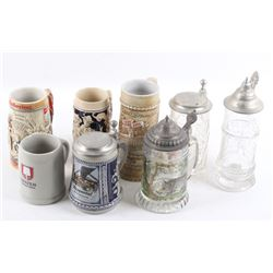 Traditional Assorted Beer Stein Collection