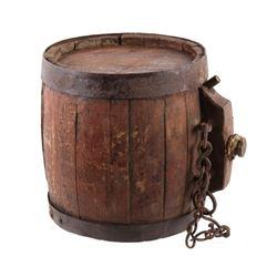 Mid 1800's Supply Wagon Water Barrel Canteen
