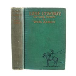Lone Cowboy My Life Story By Will James First Ed.