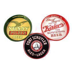 Three Beer Advertising Serving Trays