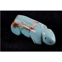 19.2g Zuni Carved Royston Turquoise Lizard Fetish