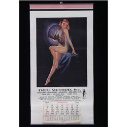 1948 Treu Method Inc. Fan Dancer Calendar
