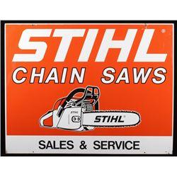 Stihl Chain Saws Metal Advertising Sign