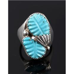 Zuni Hand Carved Sleeping Beauty & Sterling Ring