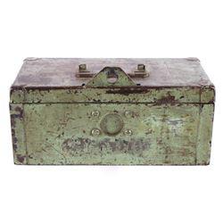 Mid 1900's Painted Steel Lock Box