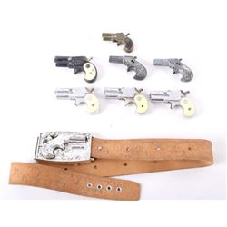 Early Vintage Toy Derringer Gun Collection