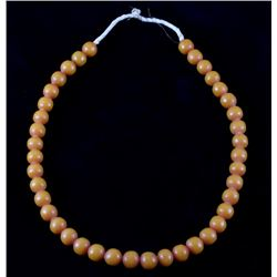 Amber African Trade Bead Necklace