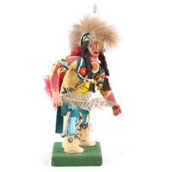 1974 Indian Dancer Hand Carved Figurine