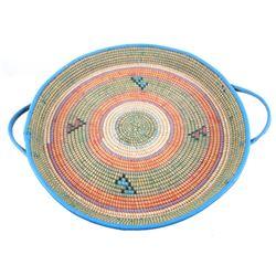 Zulu African Tribal Hand Woven Basket