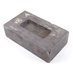 Mid 20th Century Solid Graphite Gold Bar Mold
