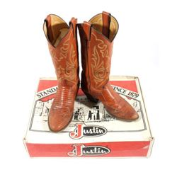 Justin Peanut Brittle Leather Boots