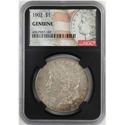 1902 $1 Morgan Silver Dollar Coin NGC Genuine