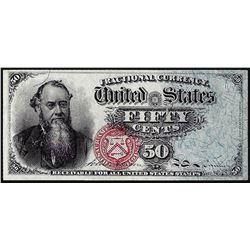1866 Fourth Issue Fifty Cents Fractional Currency Note