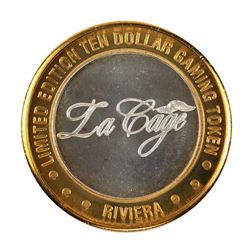 .999 Silver Riviera Hotel & Casino Las Vegas $10 Casino Limited Edition Gaming Token