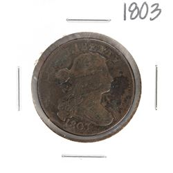 1803 Draped Bust Large Cent Coin