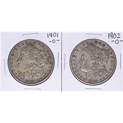 Lot of 1901-O & 1902-O $1 Morgan Silver Dollar Coins