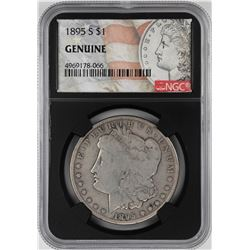 1895-S $1 Morgan Silver Dollar Coin NGC Genuine