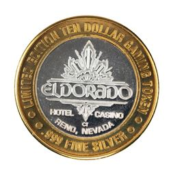 .999 Fine Silver Eldorado Reno, Nevada $10 Limited Edition Gaming Token