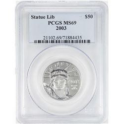 2003 $50 American Platinum Eagle Coin PCGS MS69