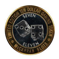 .999 Silver McCarran International Airport $10 Casino Limited Edition Gaming Token