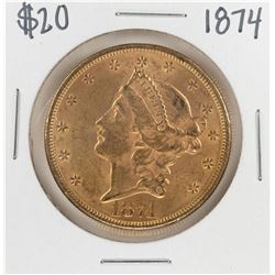 1874 $20 Liberty Head Double Eagle Gold Coin
