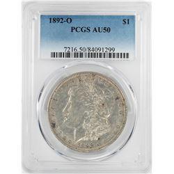 1892-O $1 Morgan Silver Dollar Coin PCGS AU50